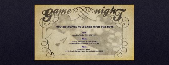 Vintage Game Night Invitation