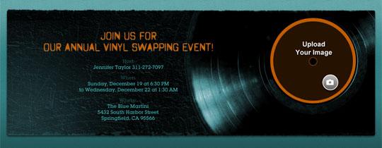 Vinyl Invitation