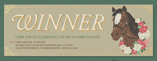 Winners Circle Invitation