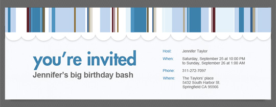 You're Invited Stripes Invitation